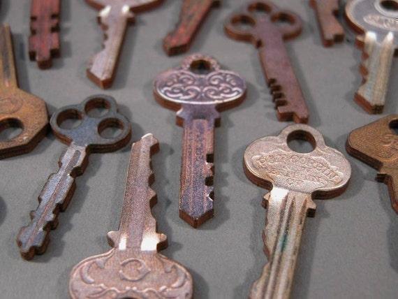 Wooden Vintage Keys