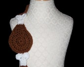 Crochet Scarf Pattern, Thanksgiving, Drumstick Goodness