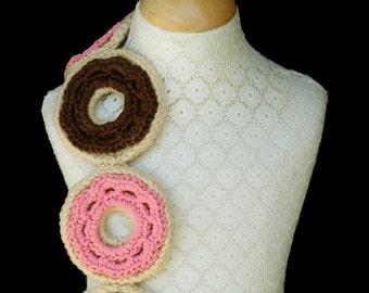 Crochet Scarf Pattern, Donut, Sweet