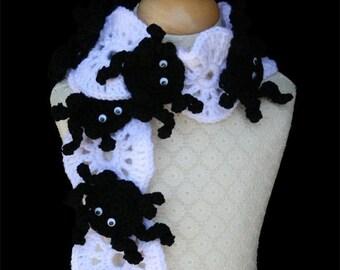 Crochet Scarf Pattern, Halloween, Silly Spider