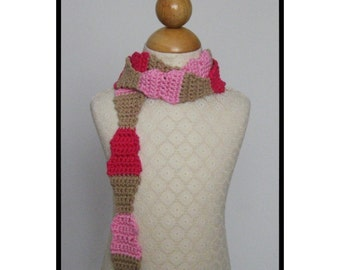 Crochet Scarf Pattern, Ice Cream Cone