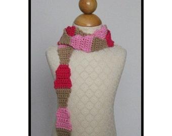 Crochet Scarf Pattern, Ice Cream Cone