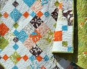 Patchwork QUILT, Lap quilt or twin coverlet ...pattern also for sale