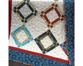 Christmas Patchwork Quilt, winter quilt, Lap Quilt, FREE SHIPPING