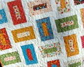 QUILT PATTERN five sizes baby to king ...Layer Cake or Charm Packs or Fat Quarters, Cozy Nights
