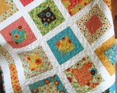 PDF Quilt Pattern, Lap or Baby size....Quick and Easy, Layer Cake or Fat Quarters, San Francisco Window Boxes