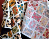 QUILT PATTERN three sizes baby to twin ...Layer Cake or Charm Packs, Tumbling Nine Patch
