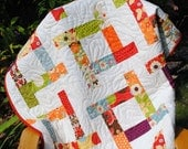 quilt PATTERN baby to king....Awesome scrap quilt. Uses Charm Squares, Layer Cake, Jelly Roll or Fat Quarters ...Tea Party