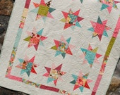 PDF Quilt Pattern.... Lap Quilt size, Quick and Easy, Layer Cakes or Fat Quarters, Bella Notte