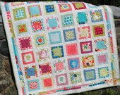 QUILT PATTERN....one layer cake or Fat Quarters, Around the Block