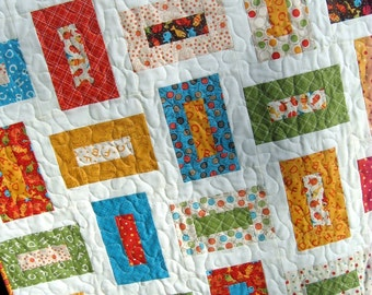 PDF QUILT PATTERN, five sizes baby to king    ...Layer Cake or Charm Packs  or Fat Quarters, Cozy Nights