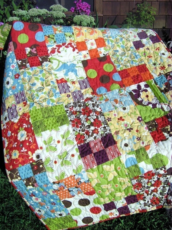 Life is Like a Box of Chocolates QUILT PATTERN.... Easy and Quick...all sizes PDF version