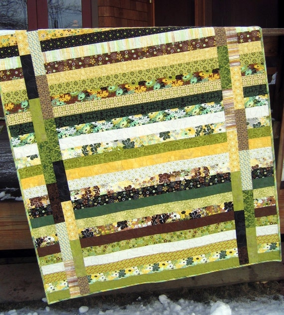 On Sale, Price Reduced. Patchwork Lap Quilt, with Moda's Origins Fabric, Earth Tones ....pattern also for sale