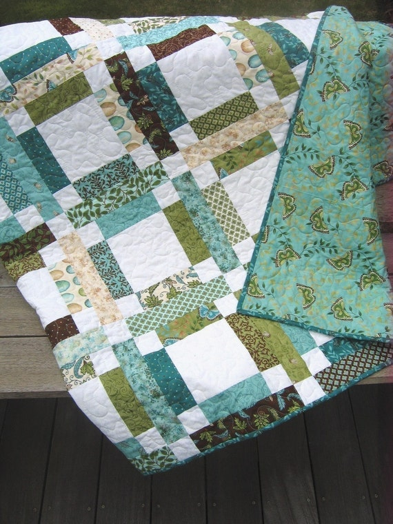 Grandma Mary's Five Patch Quilt PATTERN ....One Jelly Roll, EASY  PDF version