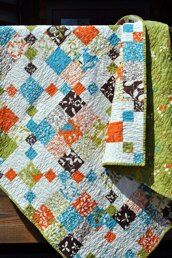 Twin Quilt Patterns Free : Patchwork QUILT Lap quilt or twin coverlet ...pattern also