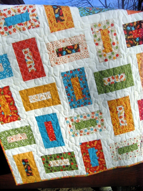 Cozy Nights QUILT PATTERN five sizes baby to king ...Layer Cake or Charm Packs ...PDF Version