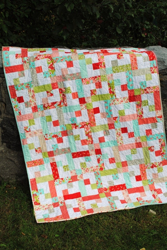 Quilt Pattern.... Baby or Twin Quilt size, Quick and Easy, Layer Cake, Jelly Roll or Fat Quarters, Stepping Star