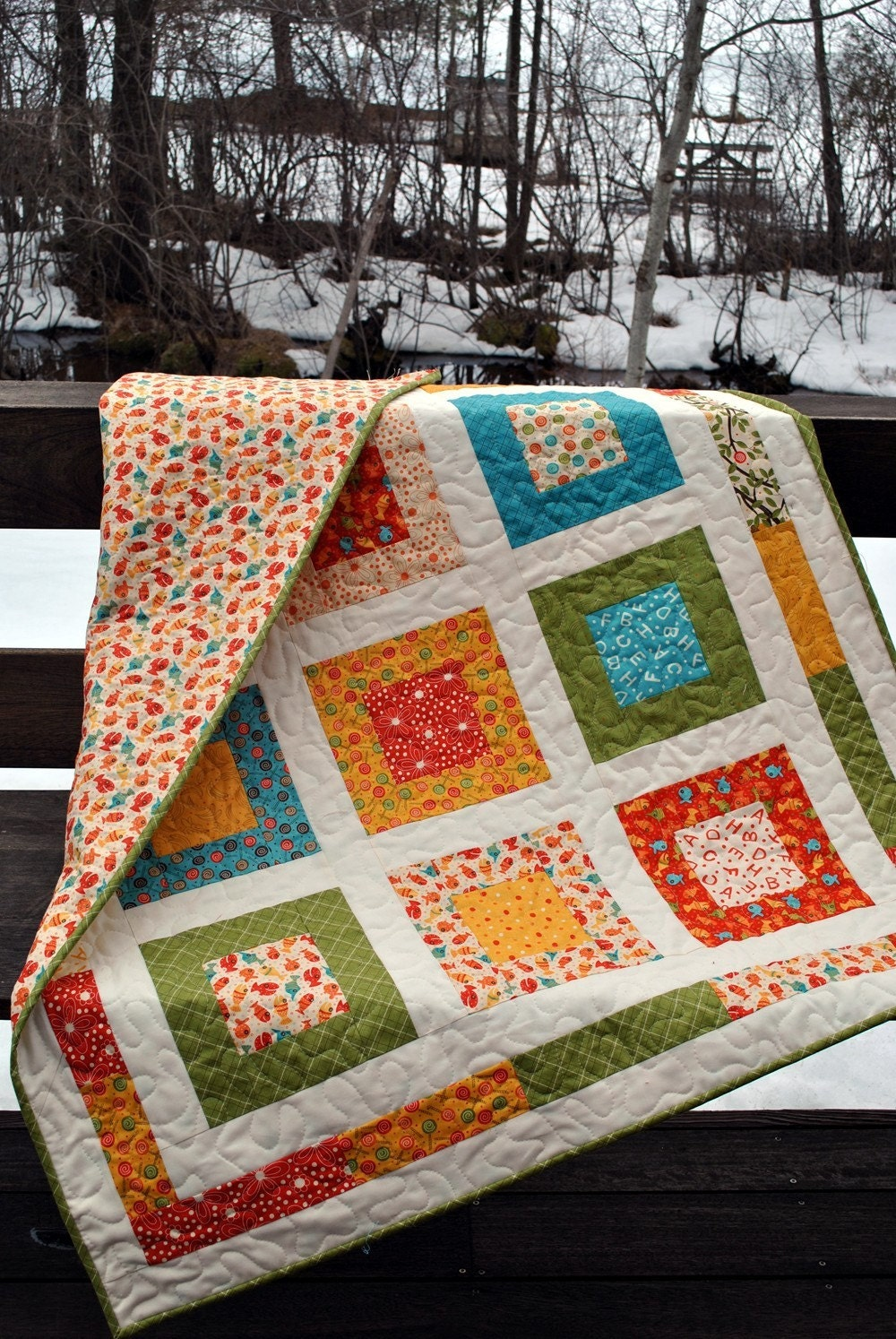 Moda S Lollipop Baby Or Toddler Quilt Pattern Also For