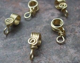 Handmade Brass Pendant Bails II, PurpleLily Designs, SRA