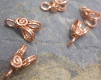 Handmade Copper Pendant Bails IV, 18g, PurpleLily Designs, SRA