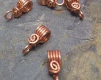 Handmade Copper Pendant Bails II, 18g, PurpleLily Designs, SRA
