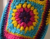 Wool Rainbow Star-burst Scarf