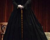 Black Civil War/Victorian/Gothic Mourning Skirt