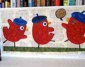 Beatnik Bird Romp- large print
