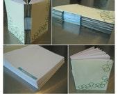 hand-bound buttonhole stitch blank notebook