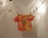 DIG IT Orange and Yellow Tractor T-Shirt, Size 4T