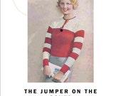 1933 Vintage Knitting Pattern  Jumper on the Cover Red Stripes  PDF Download