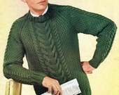Pdf Sweater for Him Vintage Knitting Pattern 1960 The Speedy Secil  Instant Download