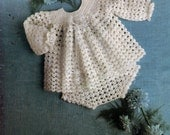Baby Crochet Vintage Pattern Angel  Pdf Top Pants Set  18 to 24 chest Instant Download