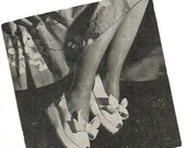 1940s Wedge Sandal Shoes make your own Vintage Pattern and Instructions PDF