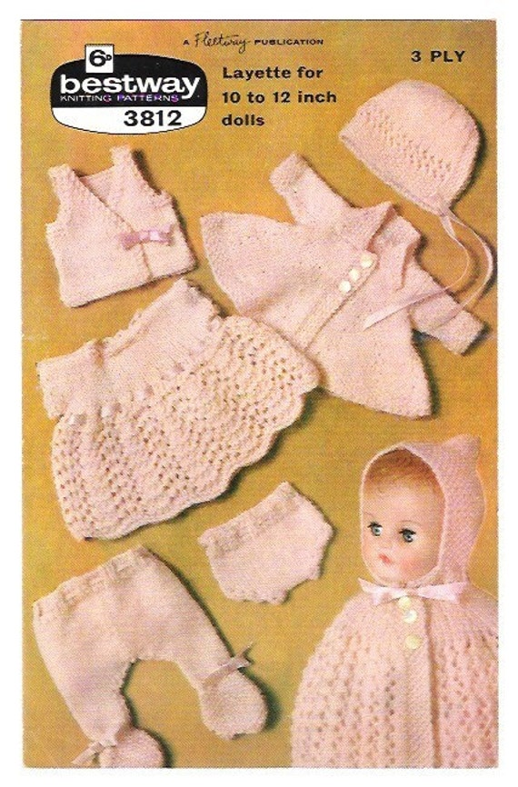 Vintage Knitting Patterns Dolls Clothes : Items similar to Vintage Knitting Pattern Dolls Clothes ...