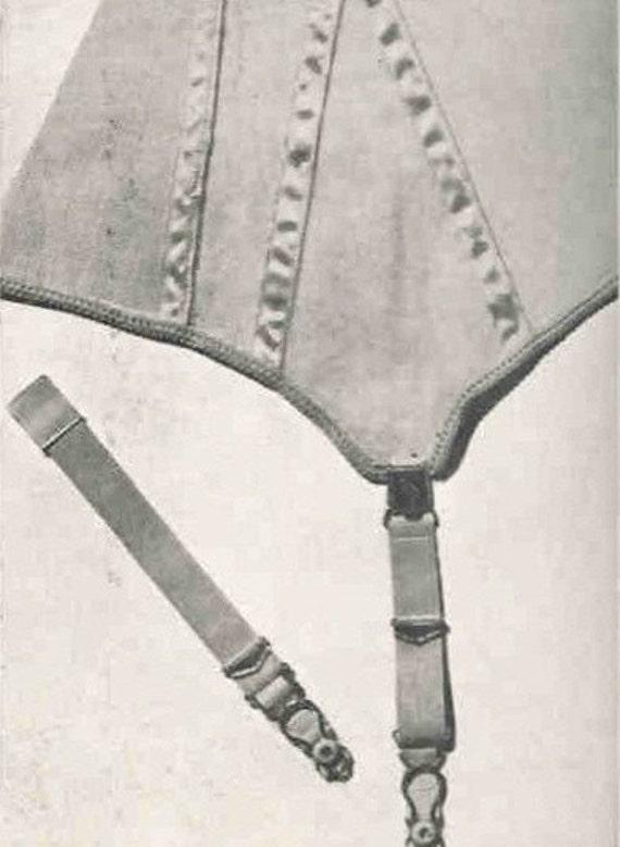 Vintage Sewing Pattern Pdf Garter Belt Suspender Belt Lingerie 1940s Style