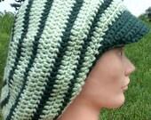 Greens Crochet Tam with Brim Size XL