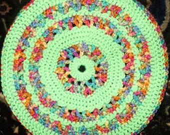 Fiesta Crochet Medallion Tam