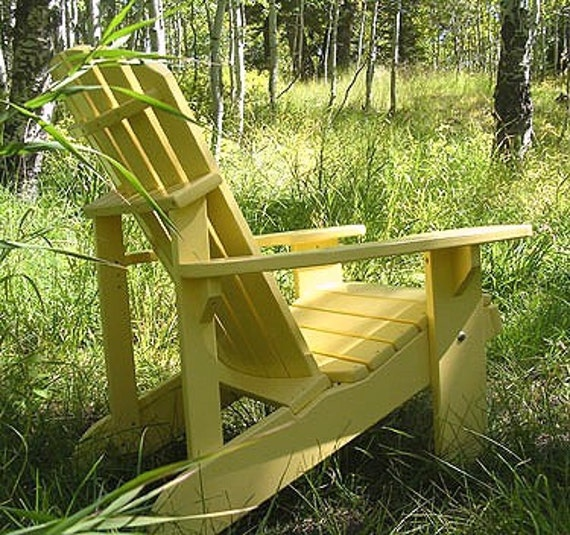 1 Adirondack Painted Chair, Partially assembled
