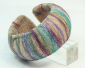 Needle Felted Dome Bracelet A Multicolored