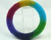 Needle Felted Rainbow Bracelet D