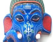 Little Blue Ganesh Mask
