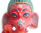 Little Red Ganesh Mask