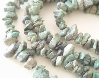 Pure African Turquoise Nuggets - 36 inches