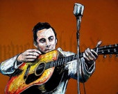 "Print 11x17"" - Young Johnny Cash - Country Western Vintage"