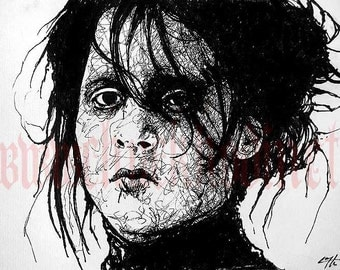 "Print 8x10"" - Edward Scissorhands - Johnny Depp Tim Burton Gothic Horror"