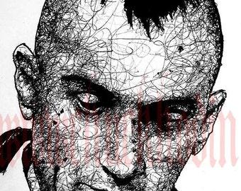 "Print 8x10"" - Travis Bickle - Taxi Driver Robert De Niro New York City 70s Punk Indie Hipster Mohawk Blood Portrait Guns Insomnia Scum"