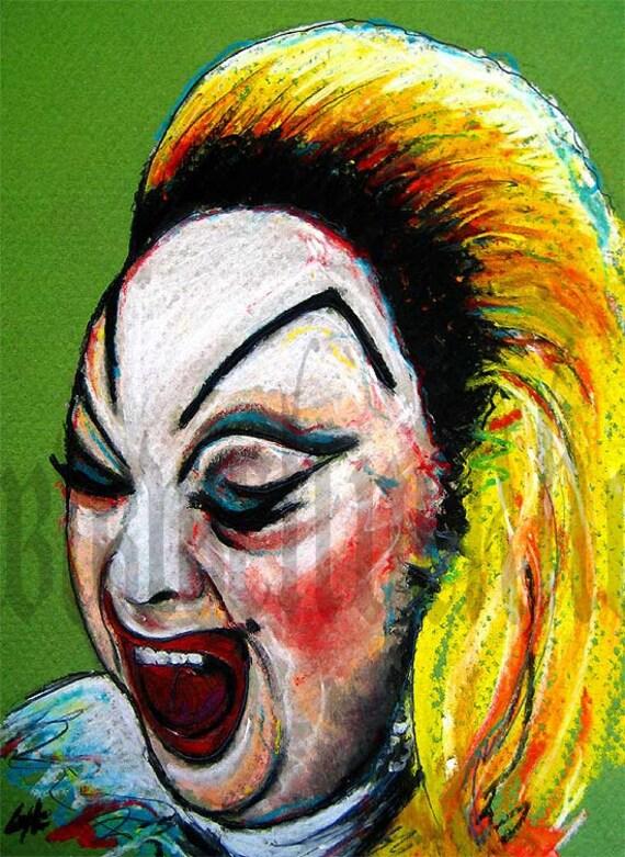 "Print 8x10"" Divine - John Waters Cult Trash Trashy Drag Queen 70s Vintage"