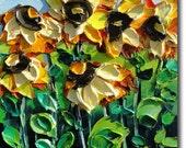 Sunflowers Painting Original Oil Painting  ART B. Sasik