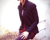 Gallo Nu-Riding Jacket-Black Organic Cotton Sweatshirt Fleece